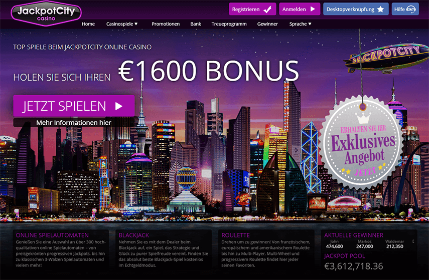 Die Jackpot City Casino Plattform_1