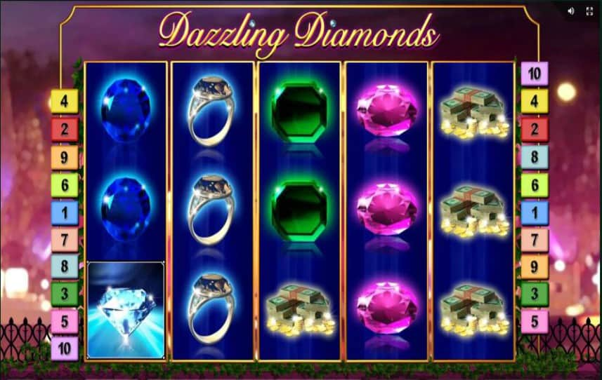 Der Screenshot von Dazzling Diamonds